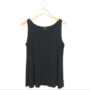 Eileen Fisher 100% Silk Tank Top Shirt Black XL C1